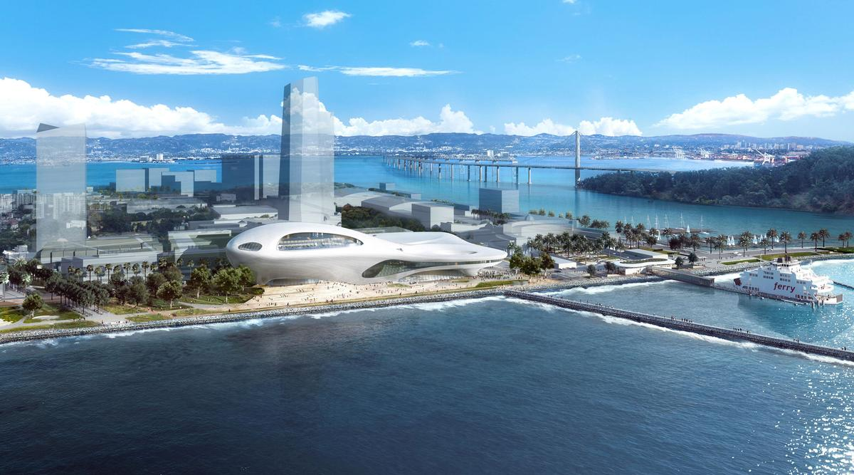 The second option would sit on Treasure Island in San Francisco Bay