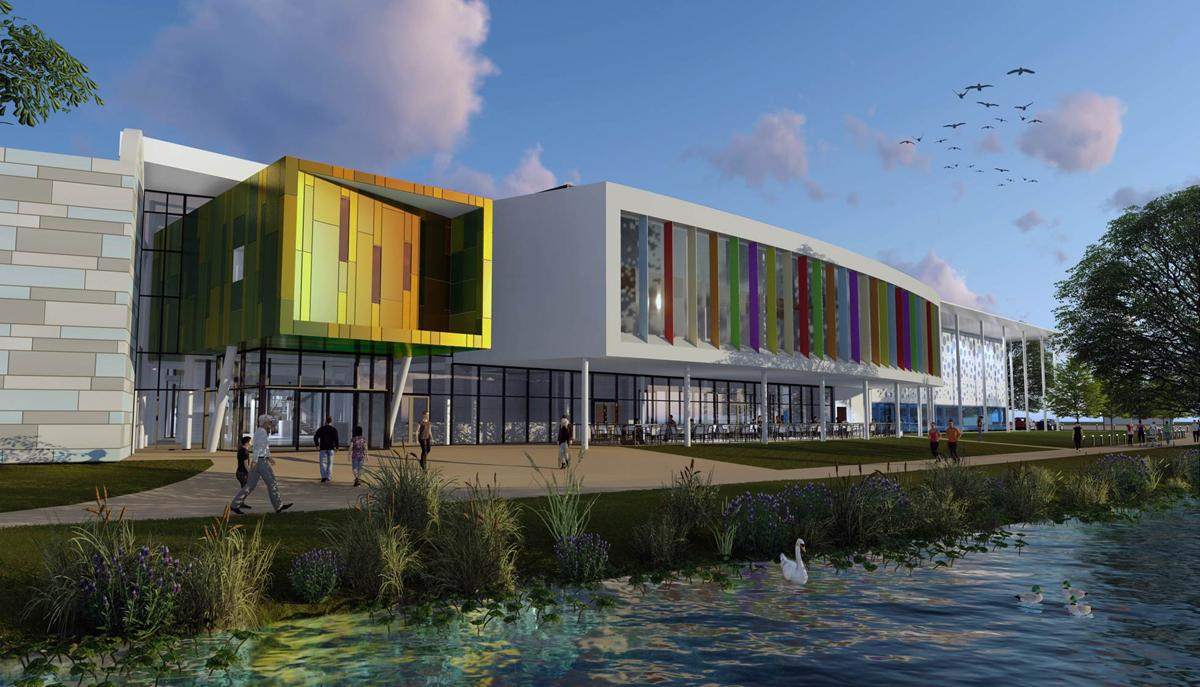 The leisure centre is scheduled to open at the end of 2018.