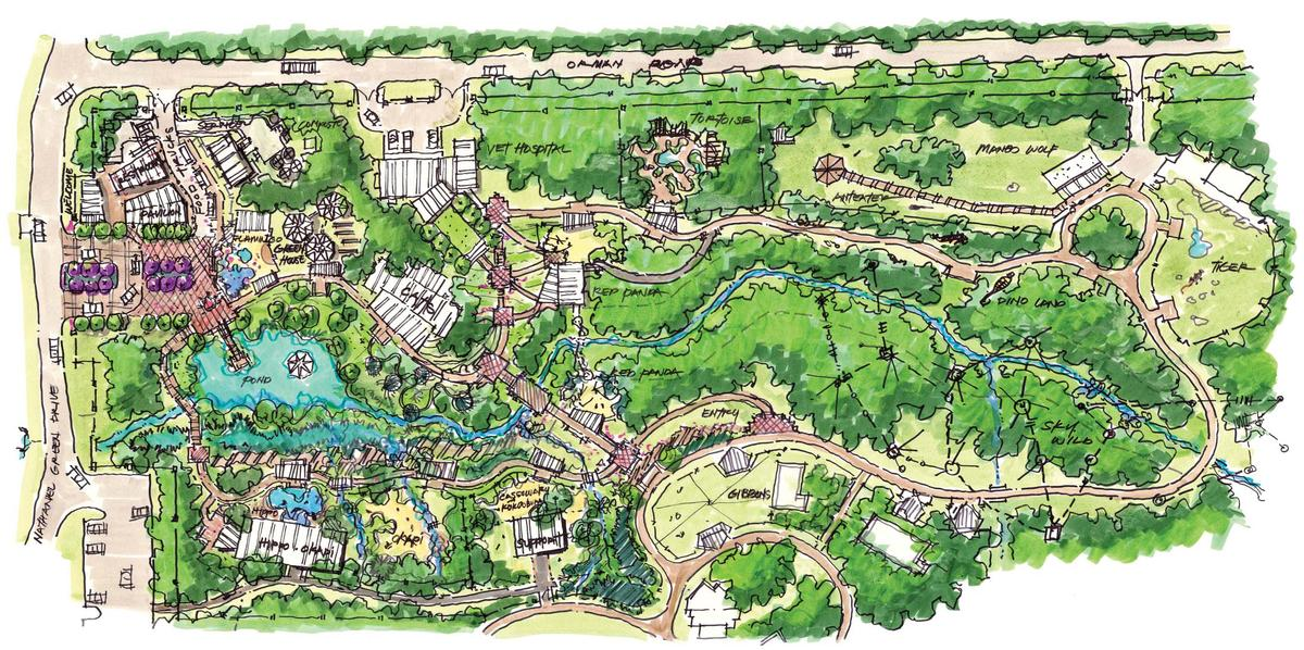 The zoo will double in size, opening up space for more rare animals