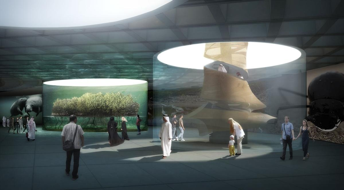 The pavilion will house exhibition and performance spaces exploring how innovation in science and design can help us protect the planet / Grimshaw