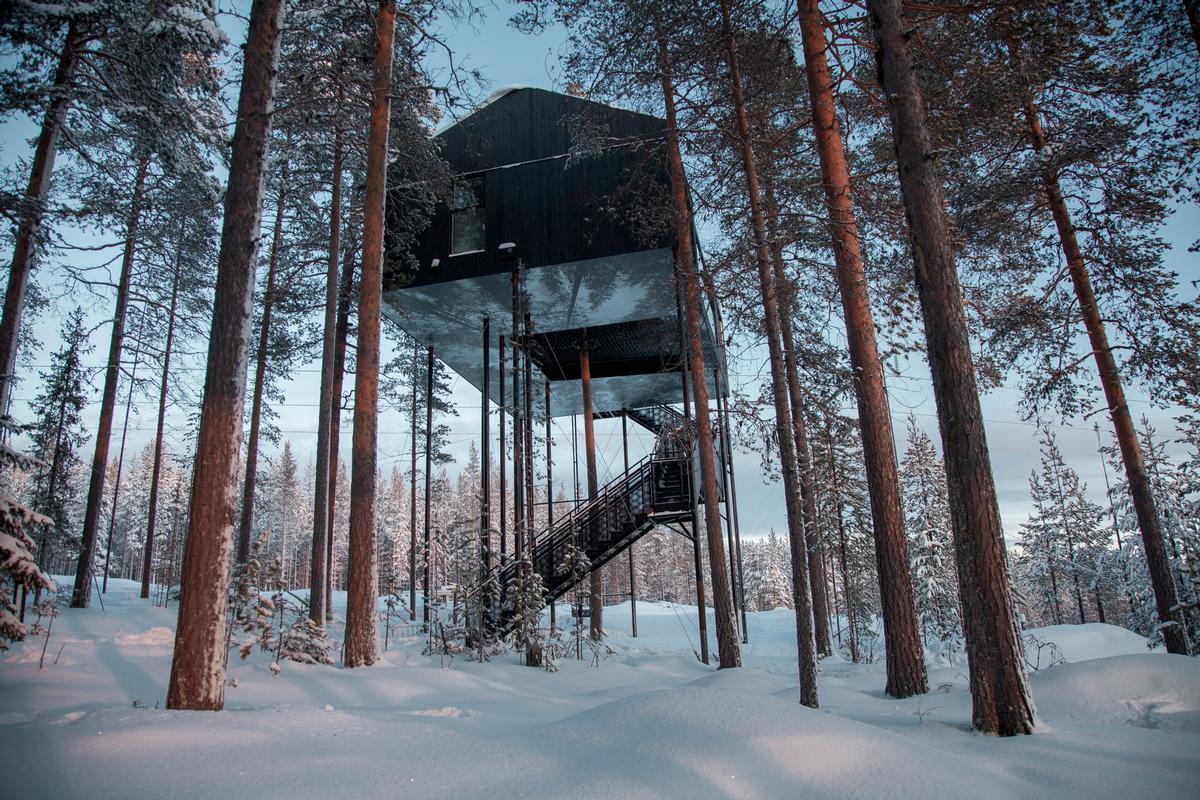 Snøhetta's 7th Room for the Treehotel in Sweden / Johan Jansson