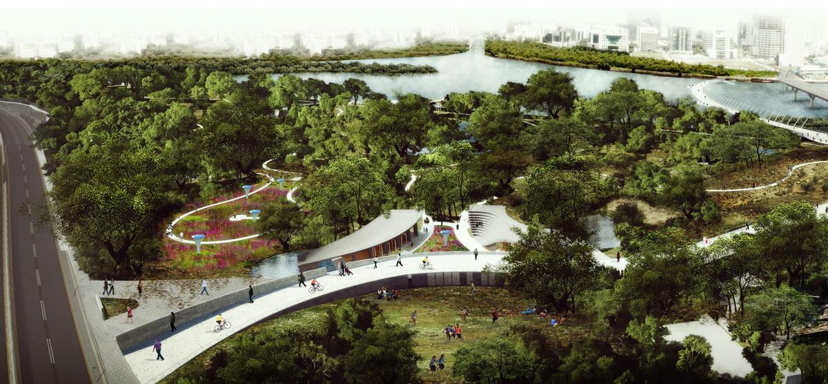 Explaining their hopes for the project, the architects said they will 'rejuvenate one of the rare parcels of urban forest that lie forgotten within the city' / Sameep Padora & Associates