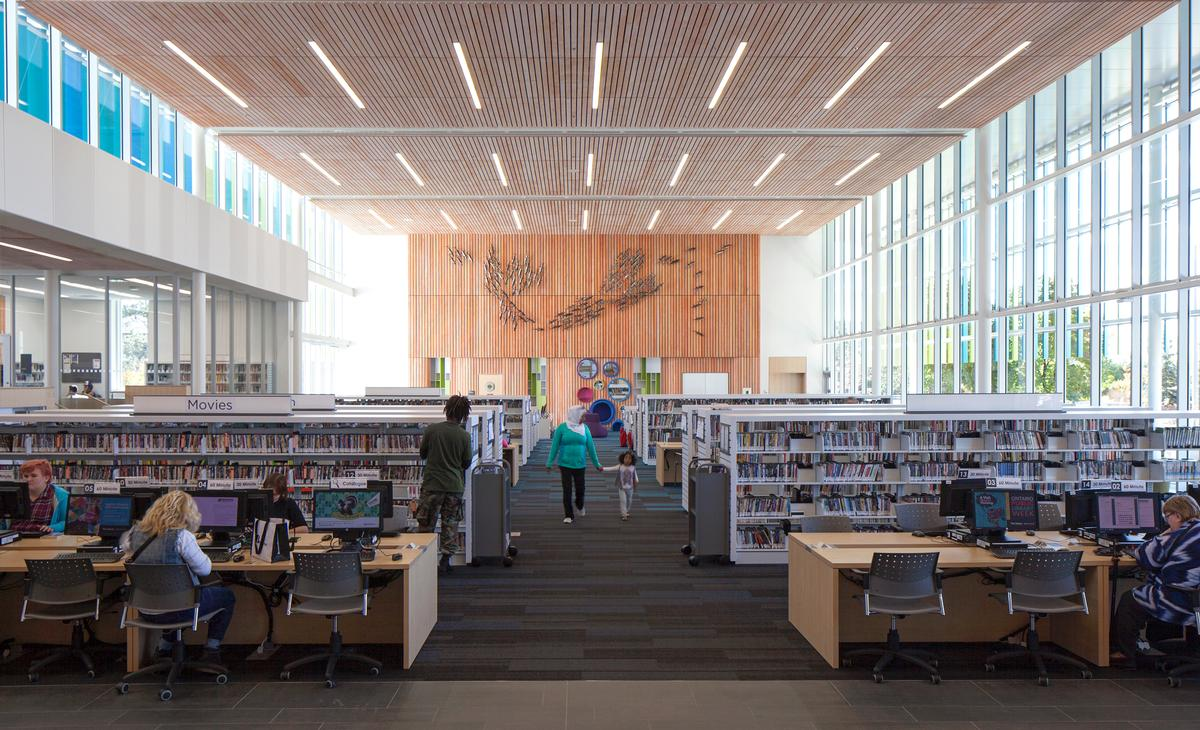 The previously off-site library has been added to the community complex / Lisa Logan