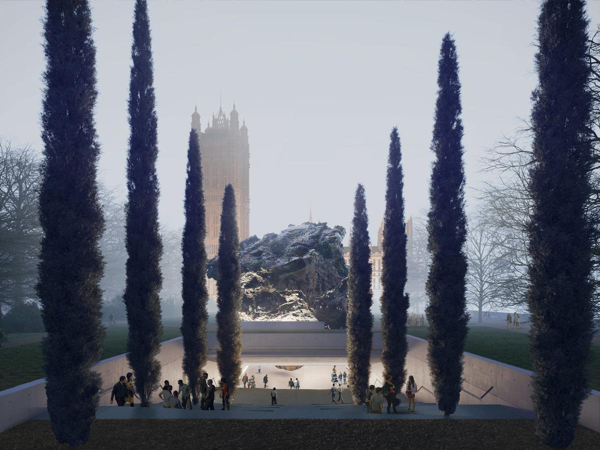The design by Anish Kapoor and Zaha Hadid Architects / Anish Kapoor and Zaha Hadid Architects & Malcolm Reading Consultants