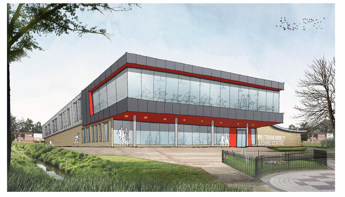 Waltham Abbey Leisure Centre is due to open in winter 2018