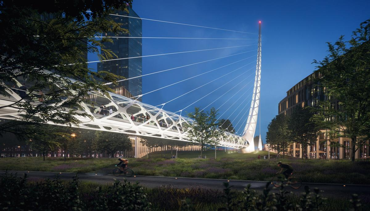 Calatrava will create a land bridge linking the site to the River Thames / Uniform