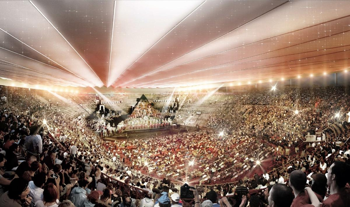 The arena hosts concerts and opera performances / Comune di Verona