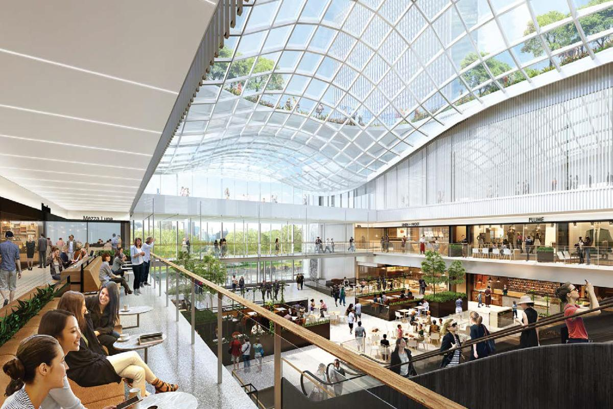 New public areas include more than 300,000sq ft (27,800sq m) of retail, dining and entertainment space