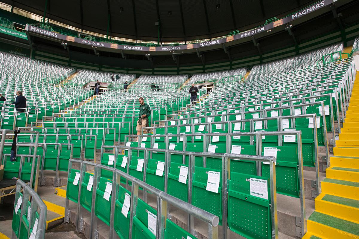 Celtic introduced 3,000 safe standing bays in its stadium last summer / Jeff Holmes/PA Archive/PA Images
