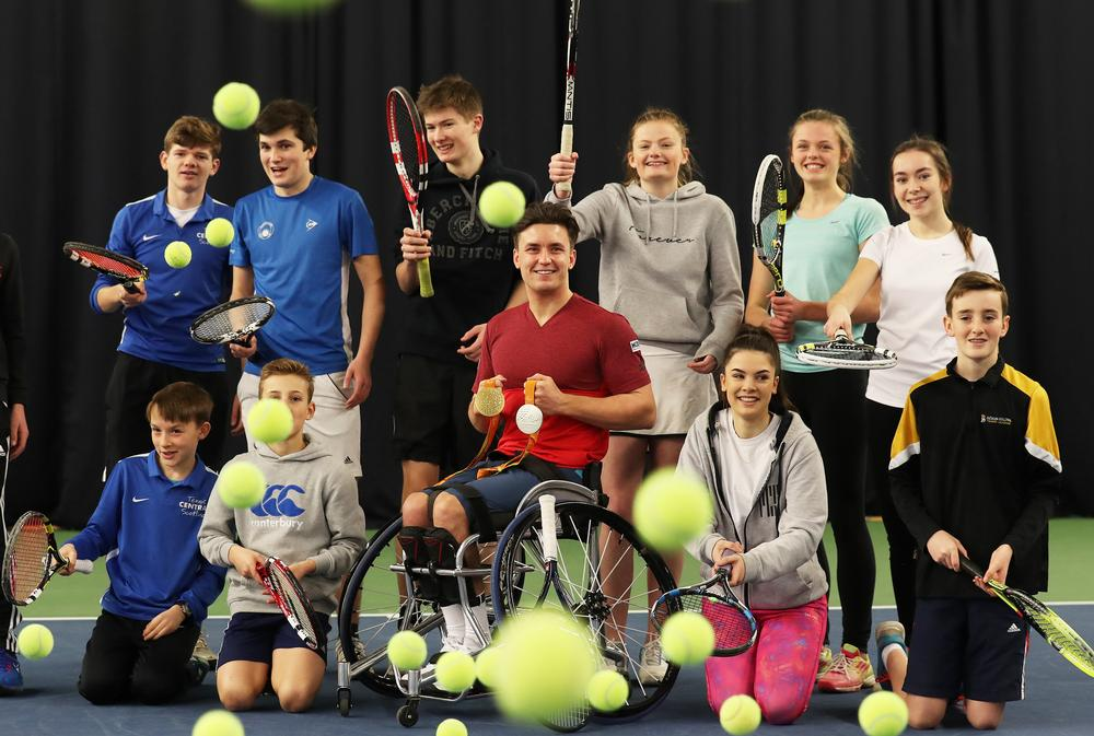 World wheelchair tennis number one Gordon Reid helped launch the indoor court funding initiative