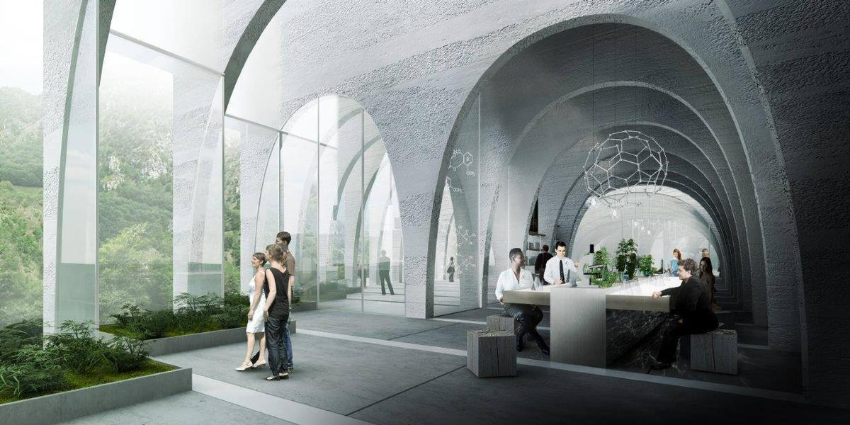 Expanding and contracting arches will appear throughout the campus, creating a multitude of spaces and experiences / BIG