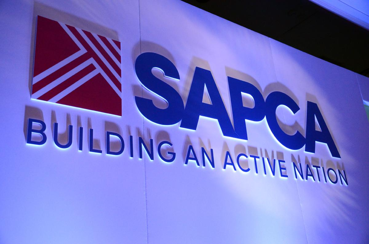 Sapca has reverted from green and yellow branding to blue and red
