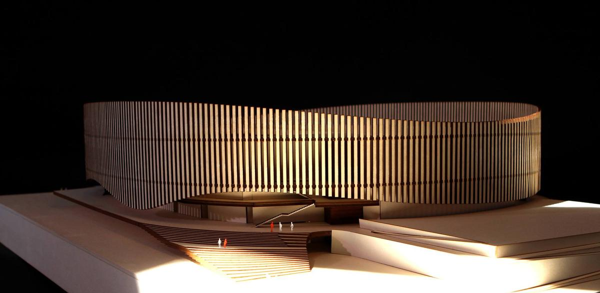 According to the architects, the podium acts as a link to the adjoining neighbourhood / Royal Arena and 3XN Architects