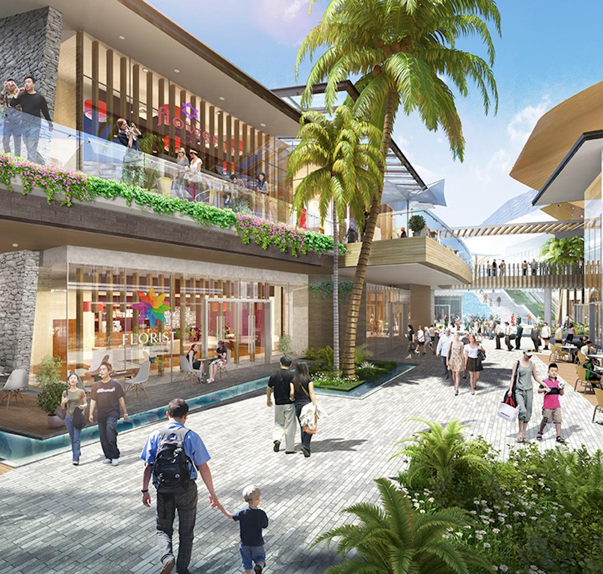 A pedestrian walkway will lead through the entire site / Benoy