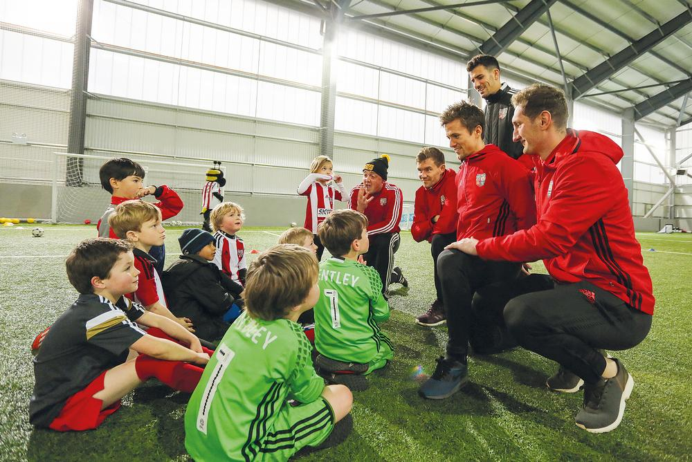 A meet-the-players day gave 60 kids the chance to play with and be coached by the Brentford FC first-team squad