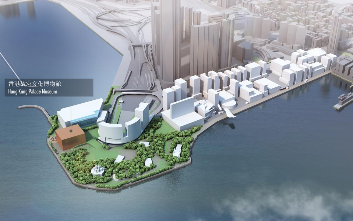 A 10,000sq m (107,600sq ft) site on Hong Kong's western harbour front has been earmarked to house the museum / WKCDA