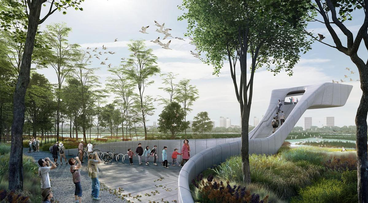 McGregor Coxall's 'bird airport' and airport sanctuary / McGregor Coxall