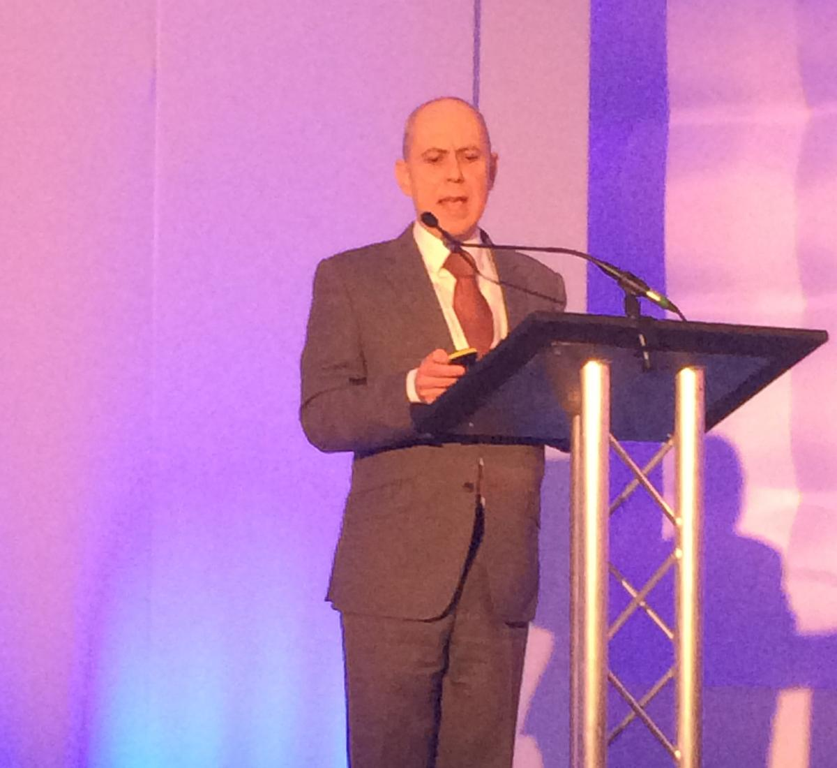 Mike Wallace spoke at the World Spa & Wellness Convention in London on Sunday