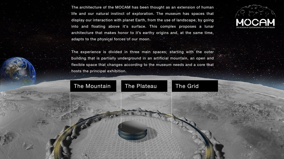 The experience would be divided into three main spaces / MoCAM