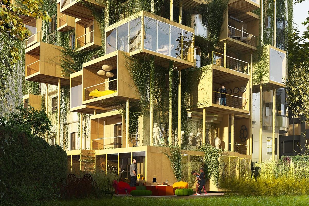 The Ground Floor Apartments Will Be Extended Outwards, Using Modular  Prefabricated Boxes Built From Bio