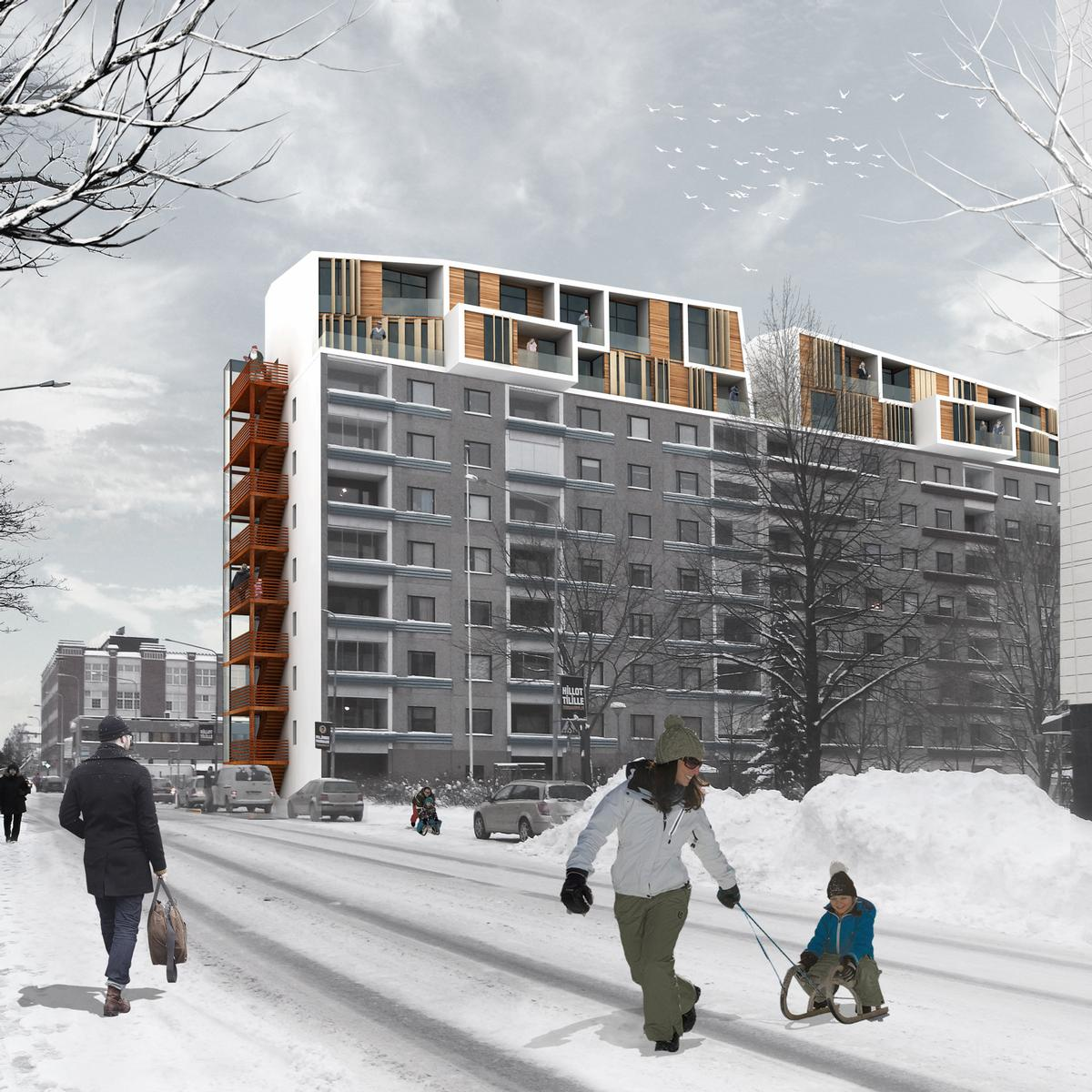 First prize winners in the large-scale intervention category were Lisa Voigtländer and SungBok Song for their design for Tampere, Finland / Plan B