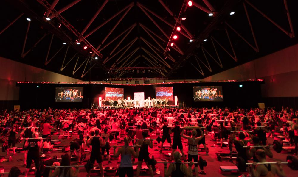 Les Mills Live events are held around the world, bringing fitness enthusiasts together for a day of fun and fitness instructors