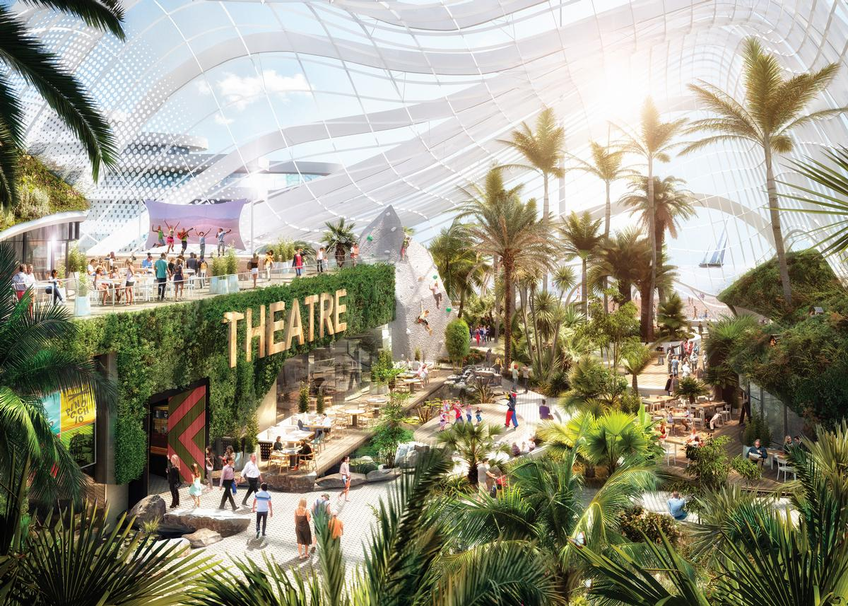 winter garden park and outdoor theatre proposed to transform