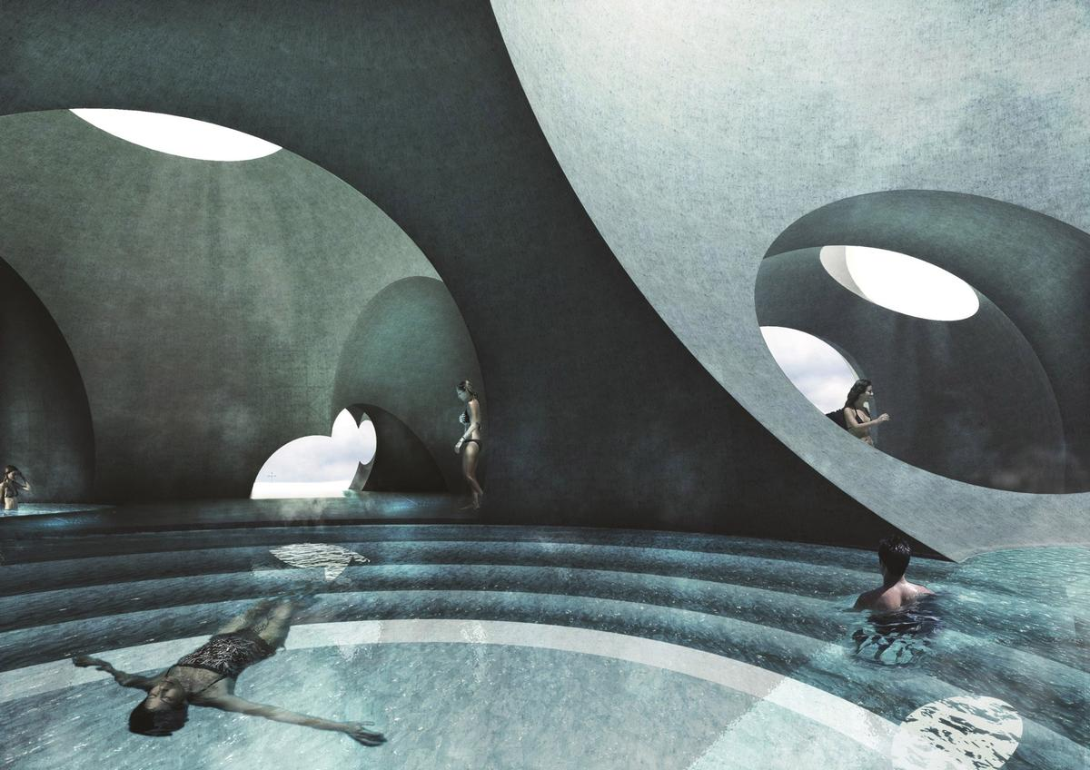 Liepaja Thermal Bath and Resort in Latvia by Steven Christensen Architecture
