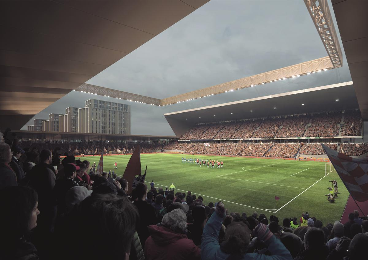 Power Court Stadium, Luton, United Kingdom, designed by AndArchitects