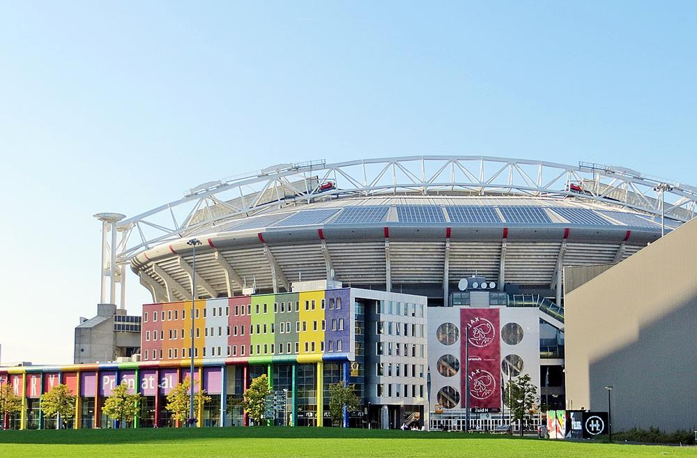 Amsterdam Arena, Netherlands: Home to football club Ajax, Amsterdam Arena is carbon neutral thanks to a range of sustainable features including solar panels