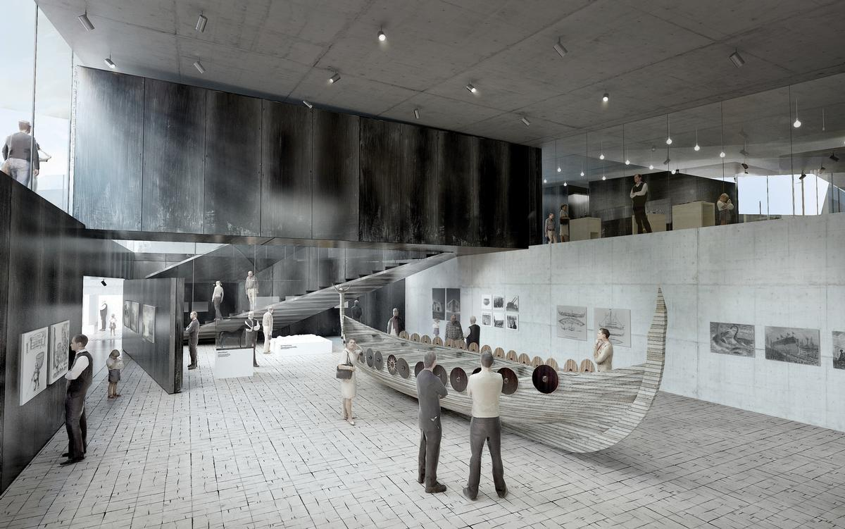 The museum is one of several European museum projects that have been designed by BIG / BIG