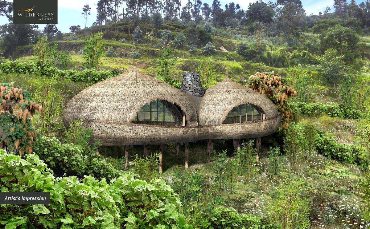 Bisate Lodge is due to open in a remote Rwandan mountain valley on 1 June 2017 / Wilderness Safaris