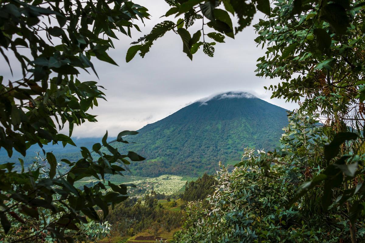 The lodge will overlook an active volcano, Mount Bisok / Wilderness Safaris