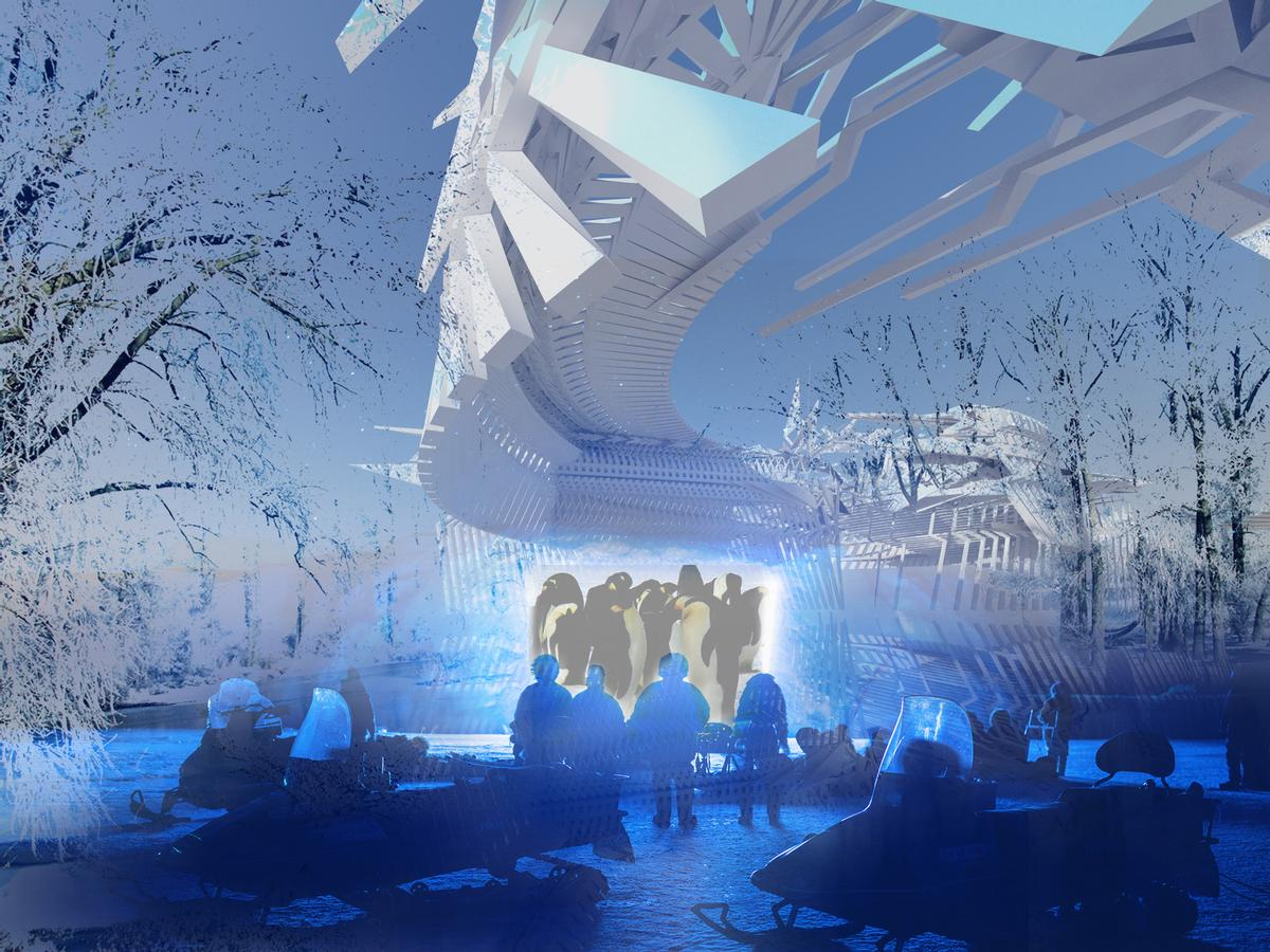 A solar-powered cinema projector will project films onto the ice / Margot Krasojevi?/V2com