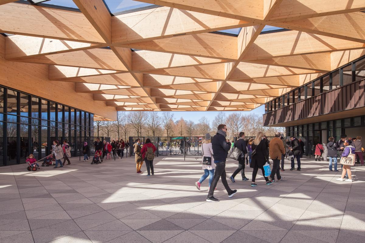 Tulips and triangles star at Mecanoo's elegant gateway to 'the Garden of Europe'