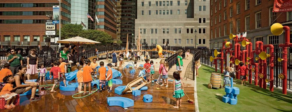 Rockwell Group's first Imagination Playground opened in Lower Manhattan in 2010 / PHOTO: ©FRANK OUDEMAN 2010
