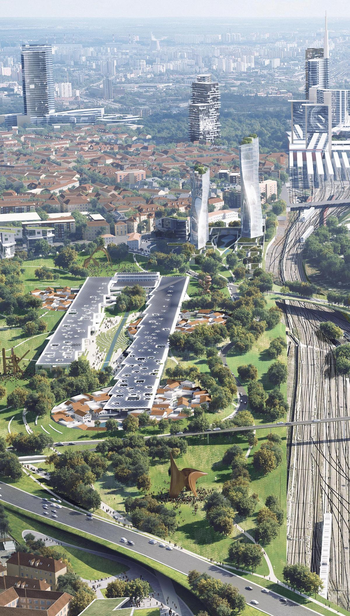 The masterplan blends the new green districts with urban Milan / MAD Architects