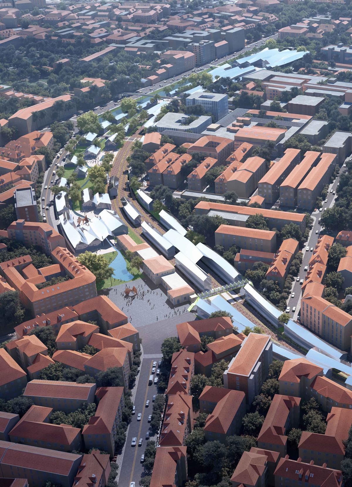 Stefano Boeri Architetti, Mecanoo Architecten, Miralles Tagliabue and Cino Zucchi Architetti are also working on the project / MAD Architects