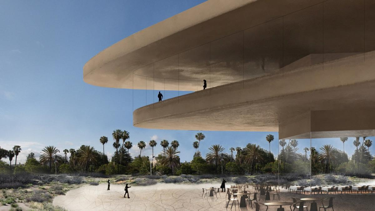 Light earthy tones are now set to be used for the monolithic facade, rather than black / Atelier Zumthor/LACMA