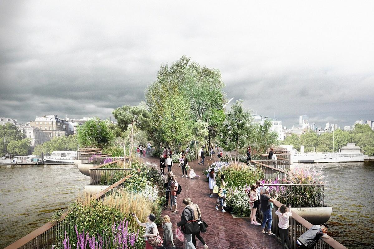 The Garden Bridge Trust are set to meet London mayor Sadiq Khan / Garden Bridge Trust