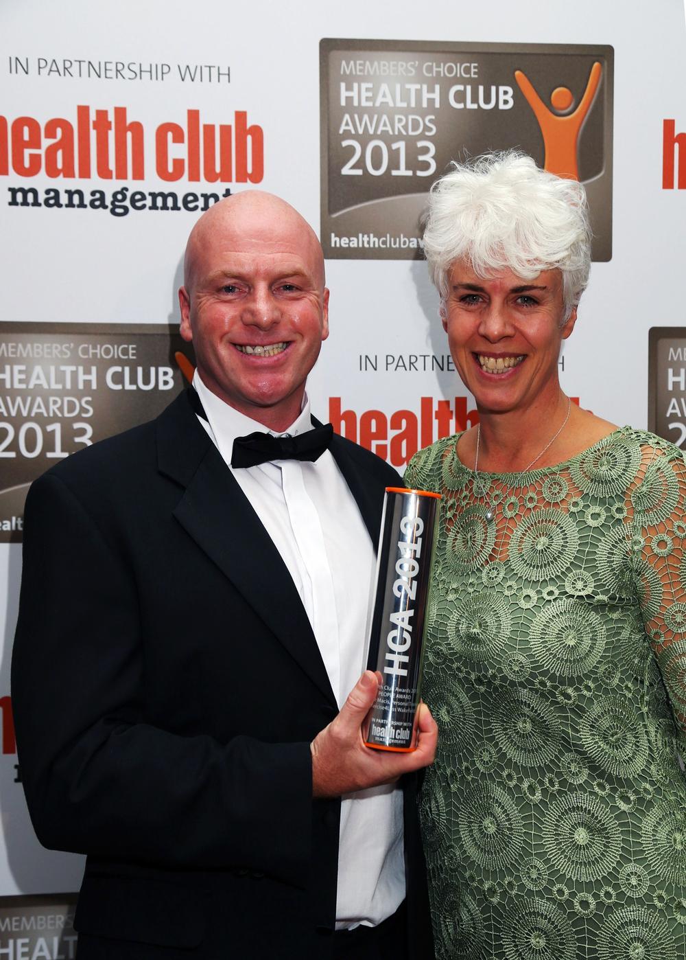 Liz Terry with People Award winner Steve Macis