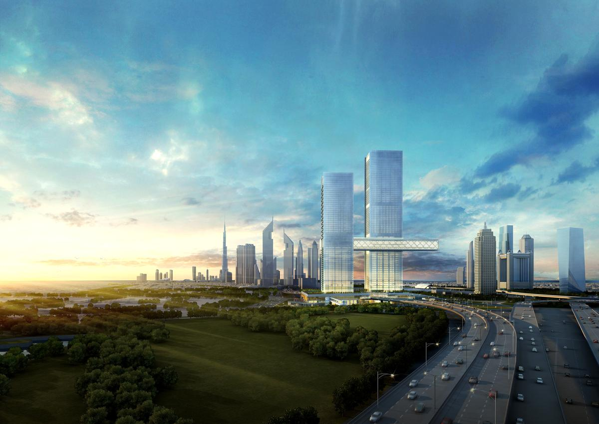 Real estate firm Ithra Dubai want the project to be a new focal point for the city's financial district / Nikken Sekkei