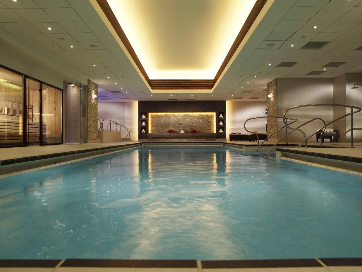 The spa houses one of London's few chlorine-free indoor swimming pools