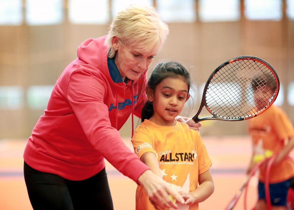 Murray travelled to David Lloyd Clubs around the country, teaching junior masterclasses