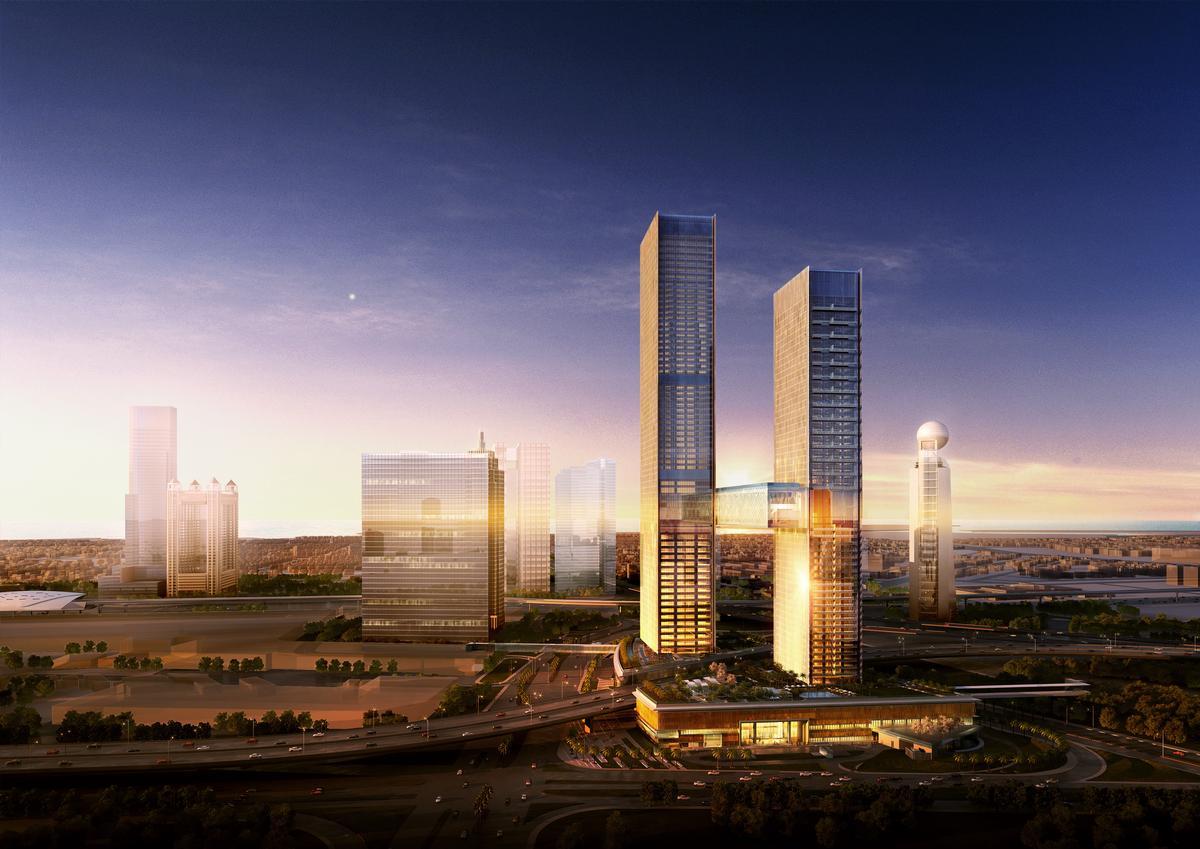 Nikken Sekkei's dramatic vision for Dubai / Nikken Sekkei