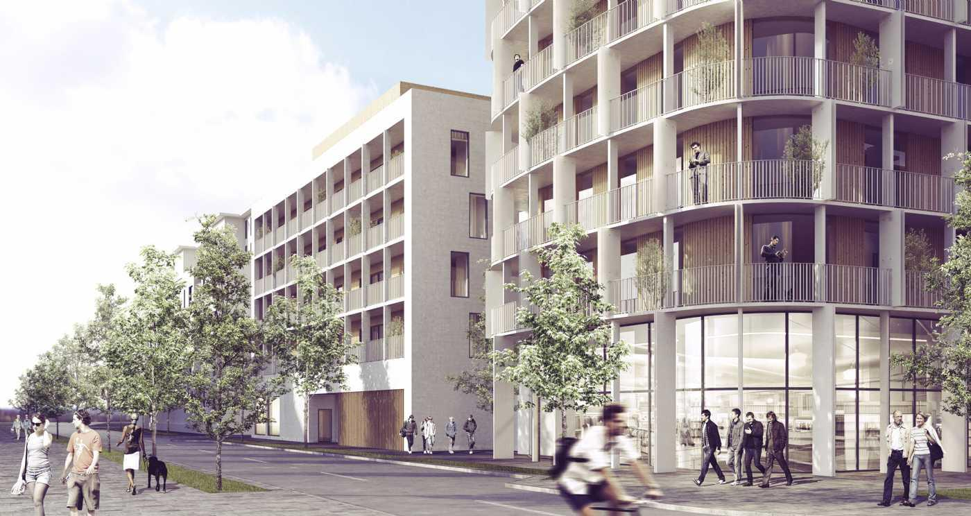 The 15,700sq m (169,000sq ft) building will have an elliptical footprint with three-dimensional facades facing all directions of the compass / C.F. Møller