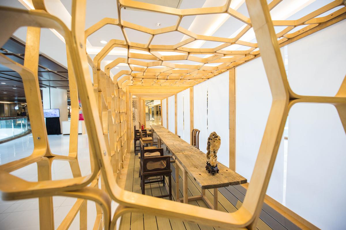 Emerging architects are given 3 months to create installations for the event / Design Shanghai