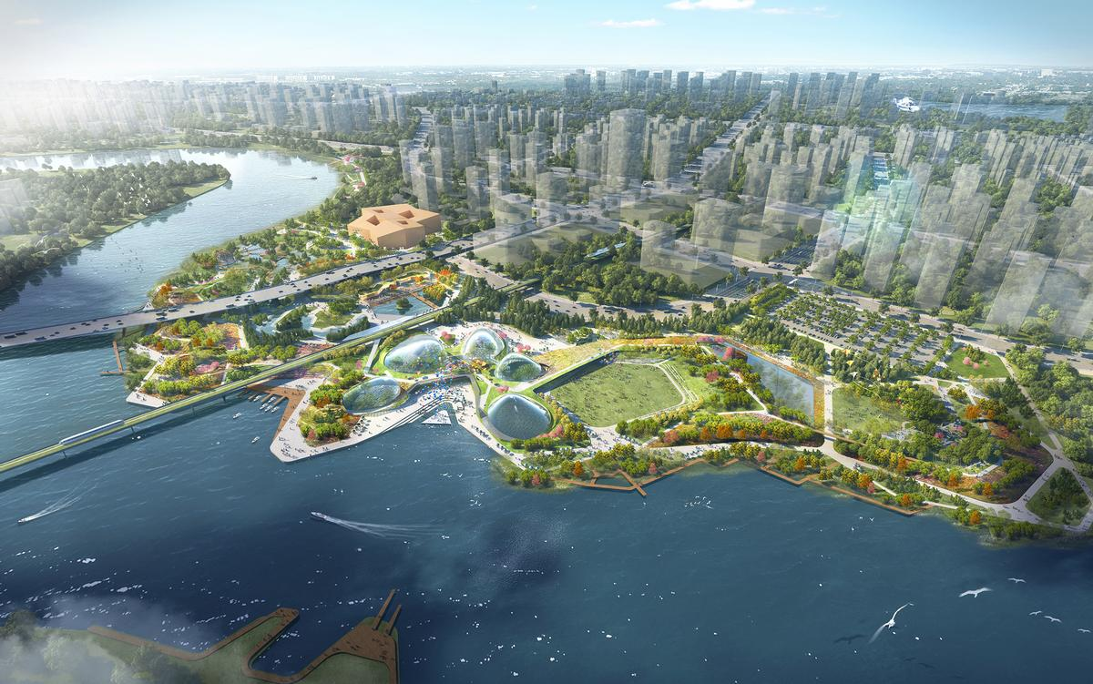 The park will be the most high-profile public park within the 30sq km metropolis / Grant Associates