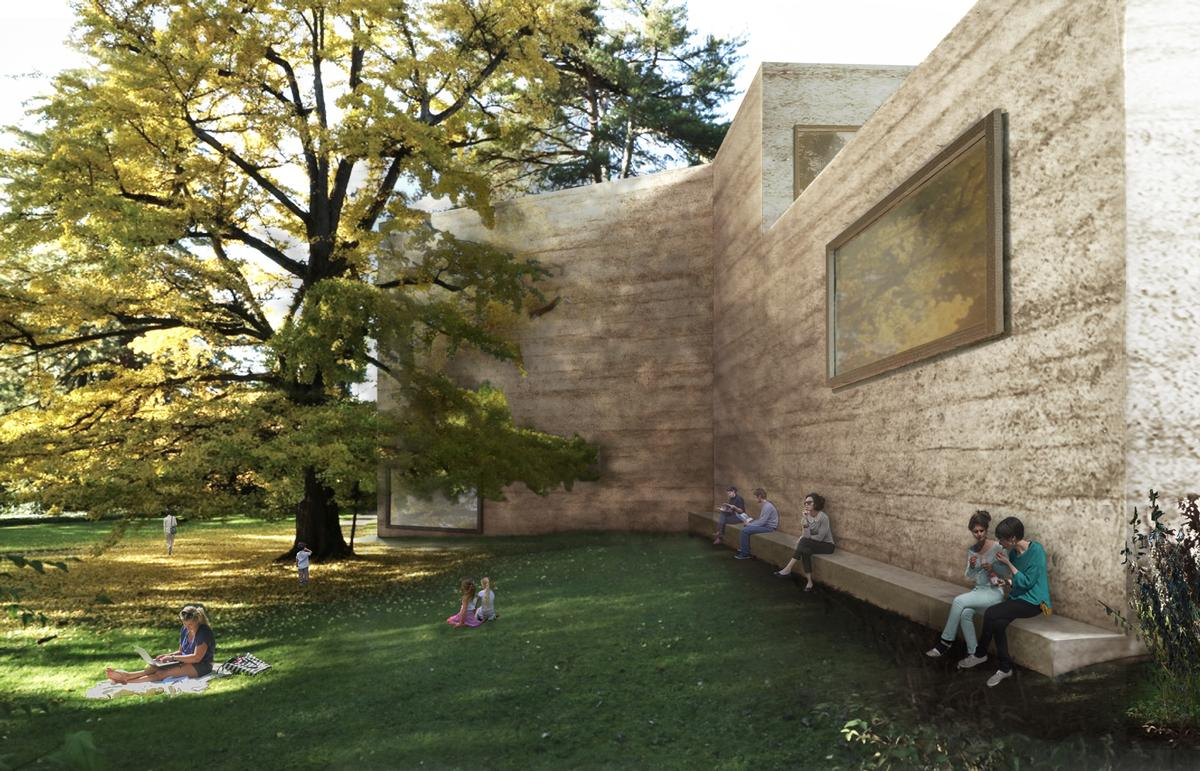The new green spaces will double the museum's parkland / Atelier Peter Zumthor