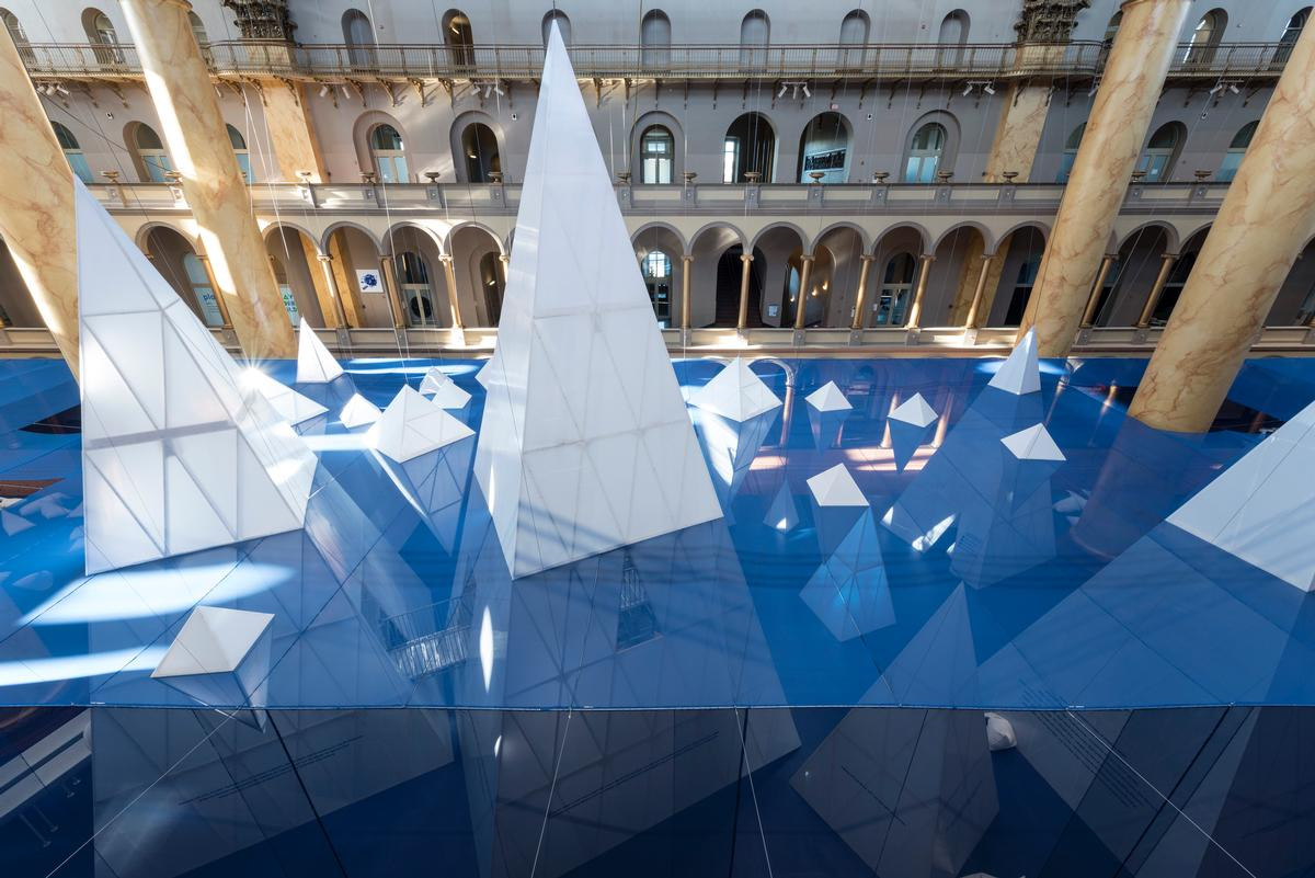 Icebergs – 'a different type of landscape – was Field Operations' installation for the Summer Block Party at the National Building Museum / Tim Schenck